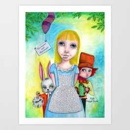 Alice and Friends by Kylie Fowler Art Print