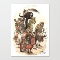 bouletcorp Canvas Prints featuring Four Horsemen by Bouletcorp