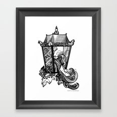 Old style street light Framed Art Print