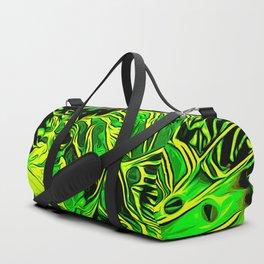 lionfish vector art green Duffle Bag