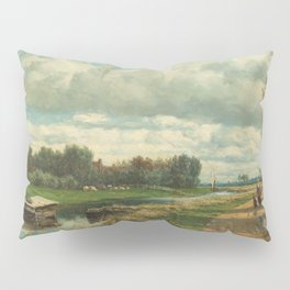 Landscape in the Environs of The Hague - Willem Roelofs (I) (1870-1875) Pillow Sham