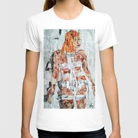 fifth element T-shirts featuring LEELOO THE FIFTH ELEMENT by JANUARY FROST