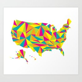 Abstract America Bright Earth Art Print