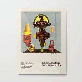 Eduardo Paolozzi. Exhibition poster for Galerie Mikro in Berlin, 1969. Metal Print