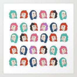 Hairstyles print Art Print
