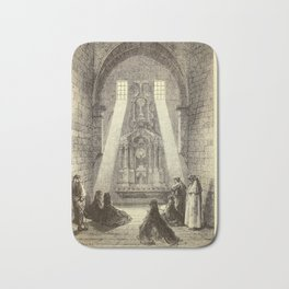 Gustave Doré - Illustration of The Parroquia de Santa María de Illescas, near Toledo, Spain (1874) Bath Mat