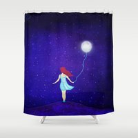 redhead Shower Curtains featuring redhead by Nancy Woland