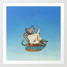Jellybean The Grown-up Cat Art Print