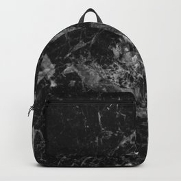 Black and Gray Marble Pattern Backpack