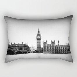 Big Ben in London - Holga Black and white Rectangular Pillow