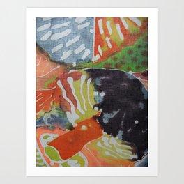 Mushroom -Batiq  Art Print