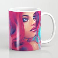 alicexz Mugs featuring Daughter of Triton by Alice X. Zhang