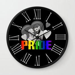 Male Pride Couple Wall Clock