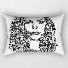 Kanji Calligraphy Art :woman's face#10 Rectangular Pillow