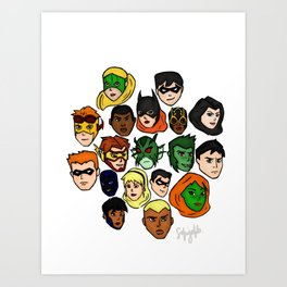 Welcome to the Team Art Print