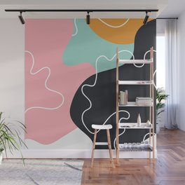 Abstract Seamless Graphic Modern Pattern Beautiful Colorful Background Wall Mural