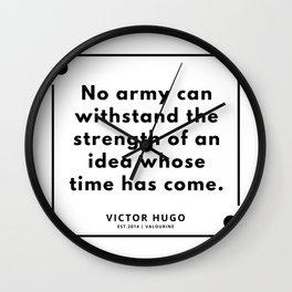 28   Victor Hugo Quotes   190830 Wall Clock