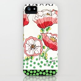 polka dot poppies iPhone Case