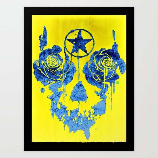 Pentagram / Crying roses  Art Print