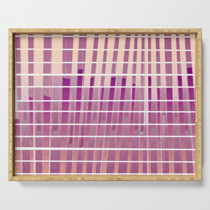 Purple Lines S18 Serving Tray