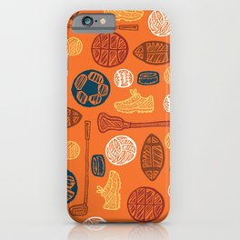 Sports Pattern iPhone Case