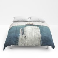 Comforters featuring The Whale - vintage  by Terry Fan