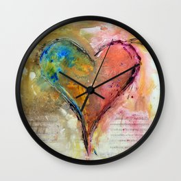 Heart of a lover Wall Clock
