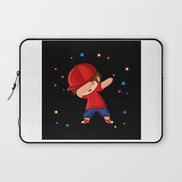Dabbing Boy With Red Cap Firework Design Motif Laptop Sleeve