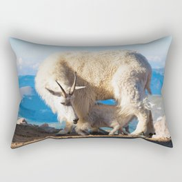 Mountain Goats Nanny And Kid Rectangular Pillow