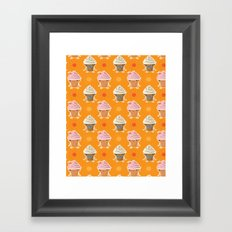 ice cream and sun bath Framed Art Print
