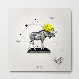 Mr. Moose Metal Print