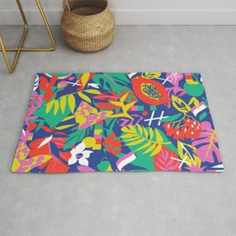 tropical pattern play Rug
