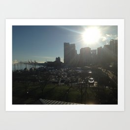 sun rise over vancouver Art Print