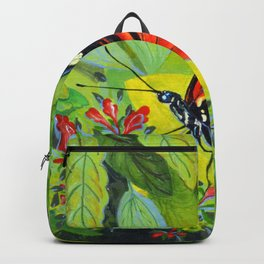 Tropical Butterfly 3 Acrylic Painting Backpack