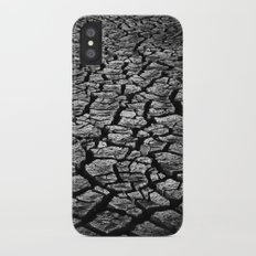 Cracked Monochrome iPhone X Slim Case