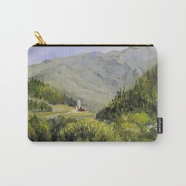 Pastures and Mount Mansfield Oil Landscape Vermont Painting Carry-All Pouch