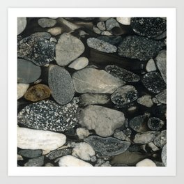 Marble Pebbles Art Print
