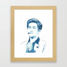 Suho Junmyeon Watercolour Design Framed Art Print
