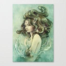 Zodiac Aquarius Canvas Print