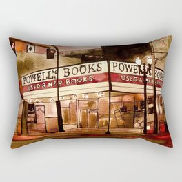 Portland's Powell's Rectangular Pillow