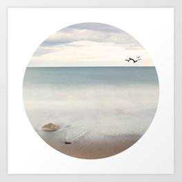 Solace Ocean Seaside Beach Neutral Fine Art Prints Gifts Art Print