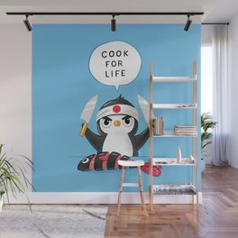 Penguin Chef Wall Mural