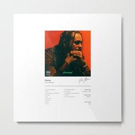 Post Malon e - Stoney - Album Art Hip Hop Metal Print