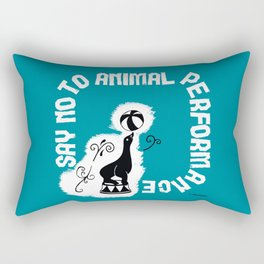 Say NO to Animal Performance - Seal Rectangular Pillow