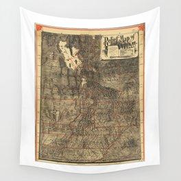Relief Map of Utah (1895) Wall Tapestry