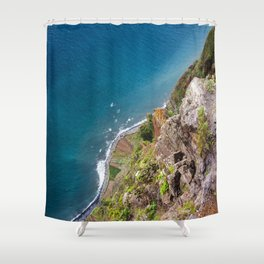 Madeira -view from cliff Shower Curtain