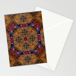 number 308 pink orange gold Stationery Cards