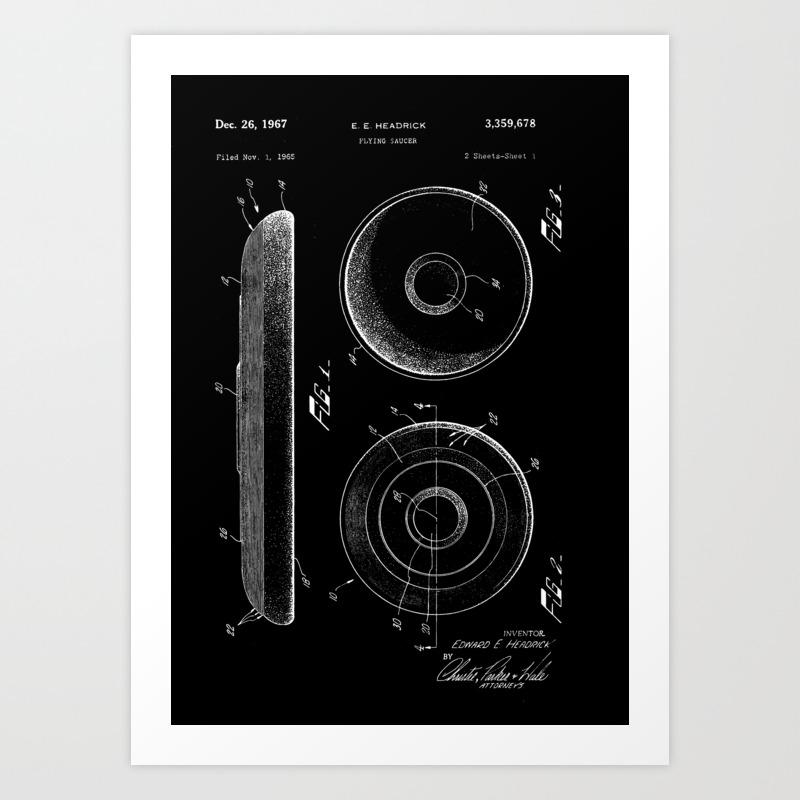 Frisbee: Edward E. Headrick Frisbee (flying Saucer… Art Print by Constantchaos PRN3977219