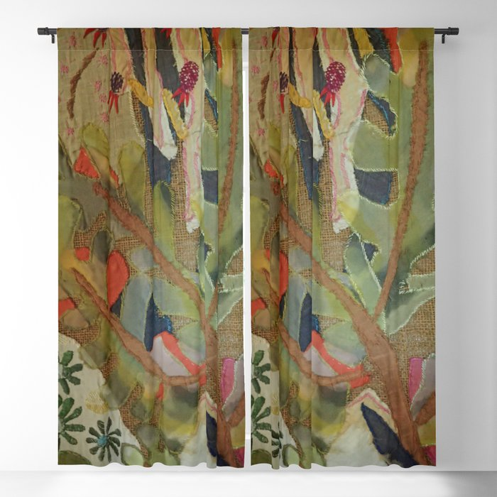 Exotic abstract patterns of nature Blackout Curtain