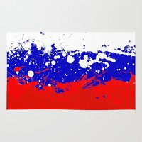 russia Area & Throw Rugs featuring into the sky, Russia by seb mcnulty